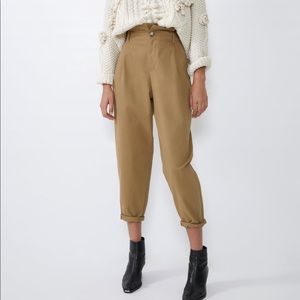 Zara Pants - Zara slouchy chinos in khaki